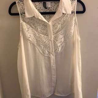 H&M white top