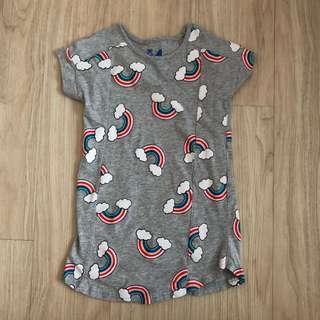 Rainbows cotton on dress/ top 4T