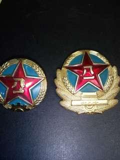 83式,87式陸军帽微(金属)