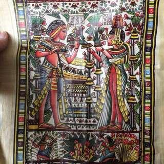 真正手提埃及沙草寫 (Papyrus)40.5cm 長x 31.5cm) Made in Egypt