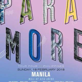 PARAMORE TOUR FOUR MANILA TICKET