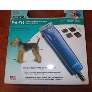 Andis Pro Pet Clipper Kit (7 pieces)