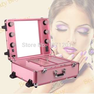Make up trolley with lights