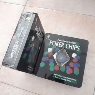 Professional Poker Chips and Cards x 2 Sets