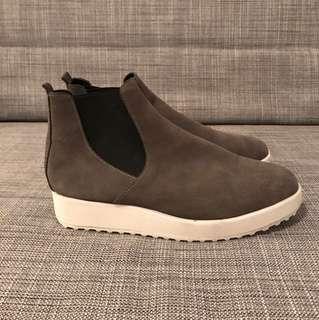 Grey Sneaker Boots