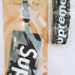 Supreme landyard and Luggage Tag