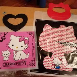 全新Hello Kitty Charmmy Kitty 特式手挽膠袋
