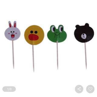 BN Line Friends Cupcake Toppers (24pcs)