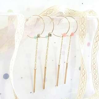 • Grace • Handmade Earrings • Long • Dangling • Minimalistic