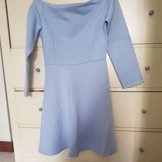 Something borrowed baby blue dress
