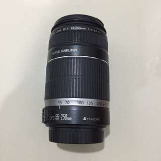 Canon EFS 55-250mm 1.1m/3.6ft 1:4-5.6 IS