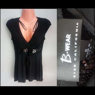 B-Wear Eyer California Black Blouse