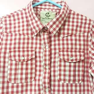 日本 紅白格仔恤衫