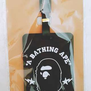 A Bathing Ape Luggage Tag (free 1 cleansing wipe)