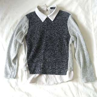 Knitted Collared Top