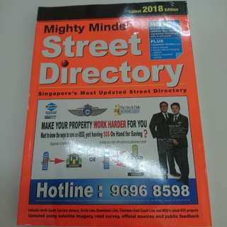 BRAND NEW SEALED Mighty Minds 2018 Edition Singapore Street Directory