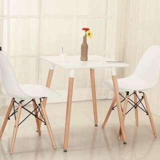 2seater 60x60cm table + 2 chairs (set)