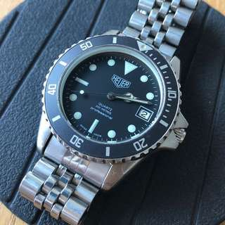 1983 Vintage Heuer (pre tag heuer 1000, 41mm with crown) professional quartz (new glass, 不議價)