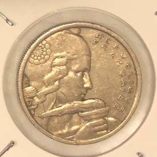 1954年法蘭西共和國硬幣