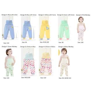 (CLEARANCE) Children Tummy protection sleeping pants 100% cotton.