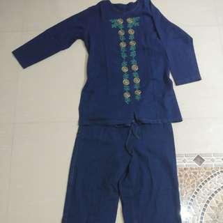 1 set Baju+Celana Denim