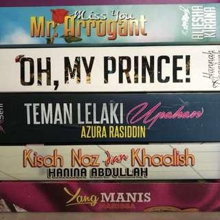Novel Melayu used