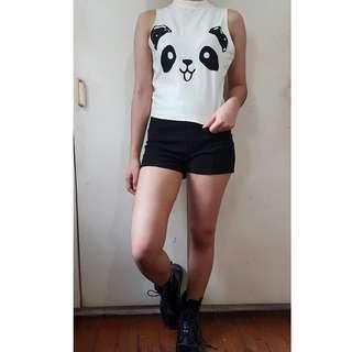 Panda Sleeveless Top