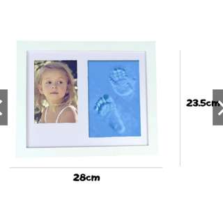 ❤️READY STOCK❤️ Creative DIY Soft Clay 3D Baby Hand Footprint Kit wt Photo Frame