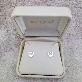 Macys Open Heart Stud Earrings