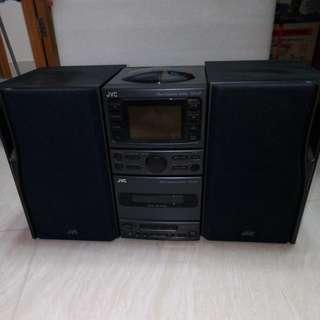 JVC speaker system & CD/Tuner unit