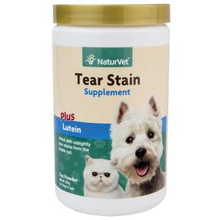 NaturVet Tear Stain Supplement Powder For Cats & Dogs 7oz/200g