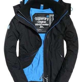 Superdry極度乾燥男衝鋒外套Pop Zip Hooded SD-Windcheater Jacket🙆🏻♀️