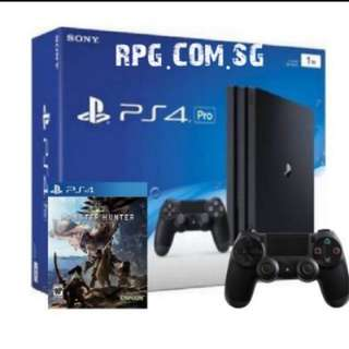 1TB With Extra Controller and Monster Hunter World