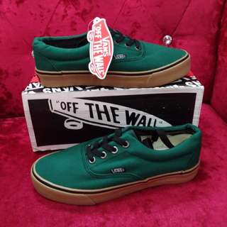 VANS Off the Wall Dark Green Sneakers Size 6.5 and 7.5