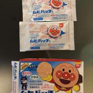 日本 池田 麵包超人 止痕止癢貼 72 片 expired on 2019 😍😍😍😍