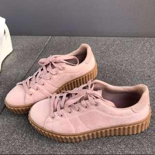Rubi blush platform sneakers