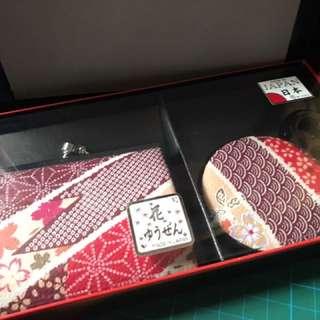 日本風 散銀包加鏡子 (全新)套裝