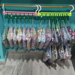 22x31cm Ziploc bags with button and strap/ jujube sets/ quicks
