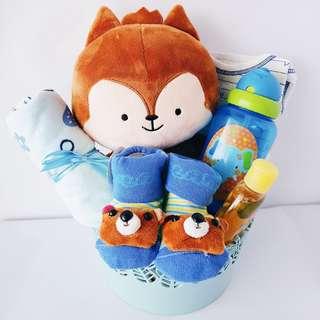 Alexander Fox Baby Boy Gift Basket