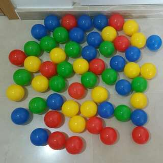 76 Colorful Toy Balls