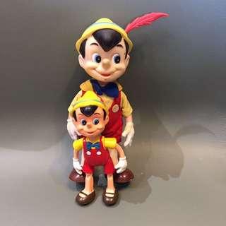 1970 年代 made in HongKong 香港製造 正版古董 迪士尼木偶一對 大隻約20cm高 $380