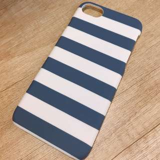Blue and white stripe iPhone case