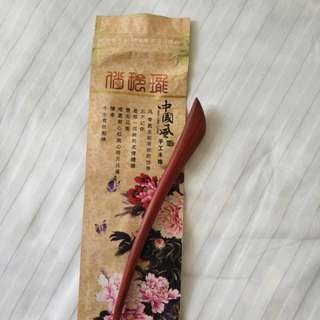 Wooden traditional hair pin