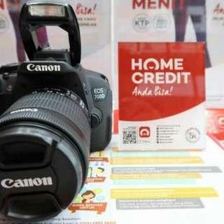 KREDIT Cepat Canon 700D & Lensa EF-S 18-5TM Kit Ready Barang
