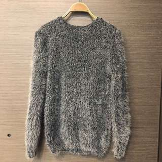 特價 全新灰黑色長毛毛衣
