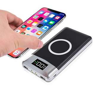 NEW!! Qi Wireless Charger 10000 mAh with 2 output ports 3in1
