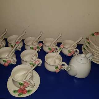 Rose tea set