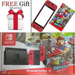 BNIB Local Set with Warranty - Nintendo Switch Super Mario Odyssey Bundle