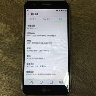 LG k10(2017) 16gb 金色 行貨