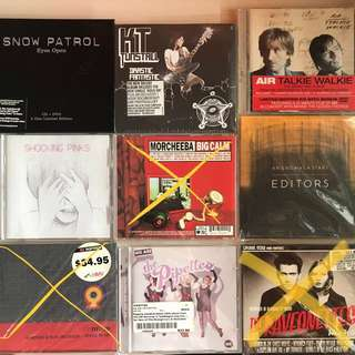 Assorted Rock and Pop / Indie Rock CDs